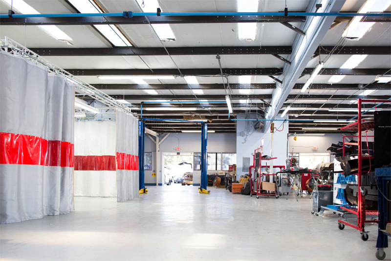 Daya's auto body shop facility in Orlando